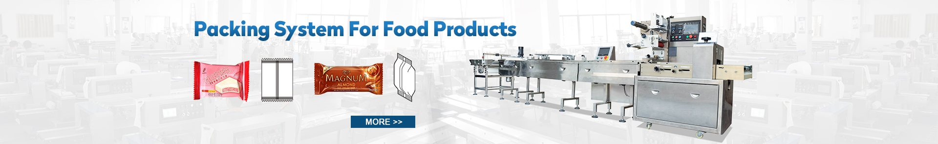 Packing system for food products