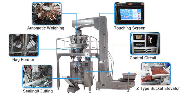 VFFS Automatic Weighing Scale Packaging Machine
