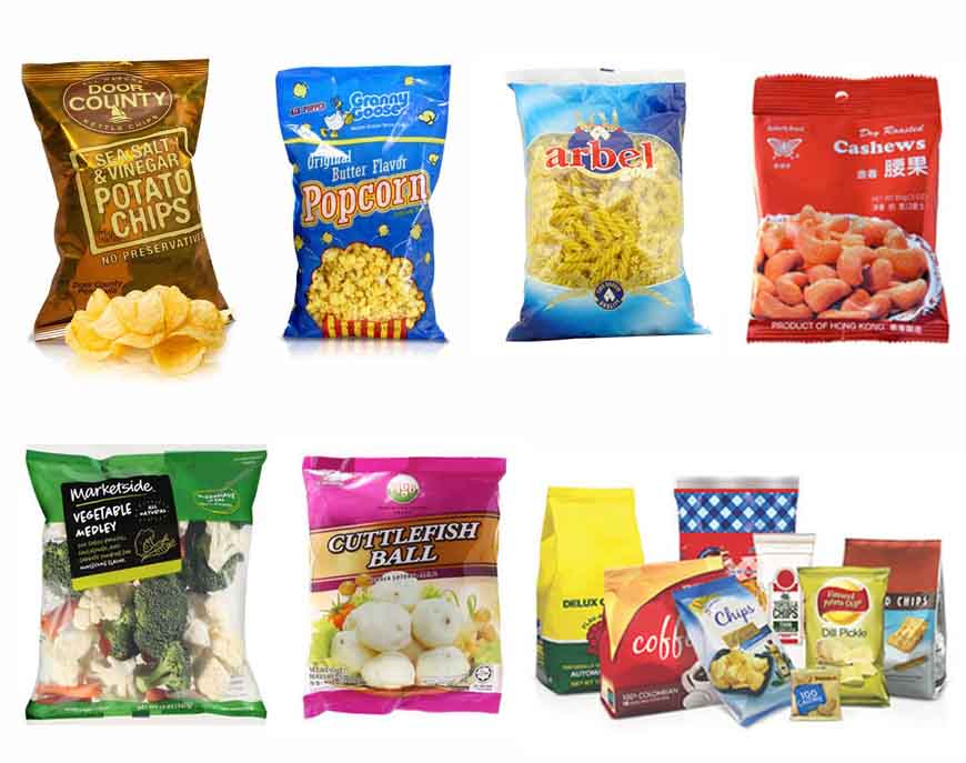 Multi-function Full Automatic Weighing Snack Food Packing Line Machine