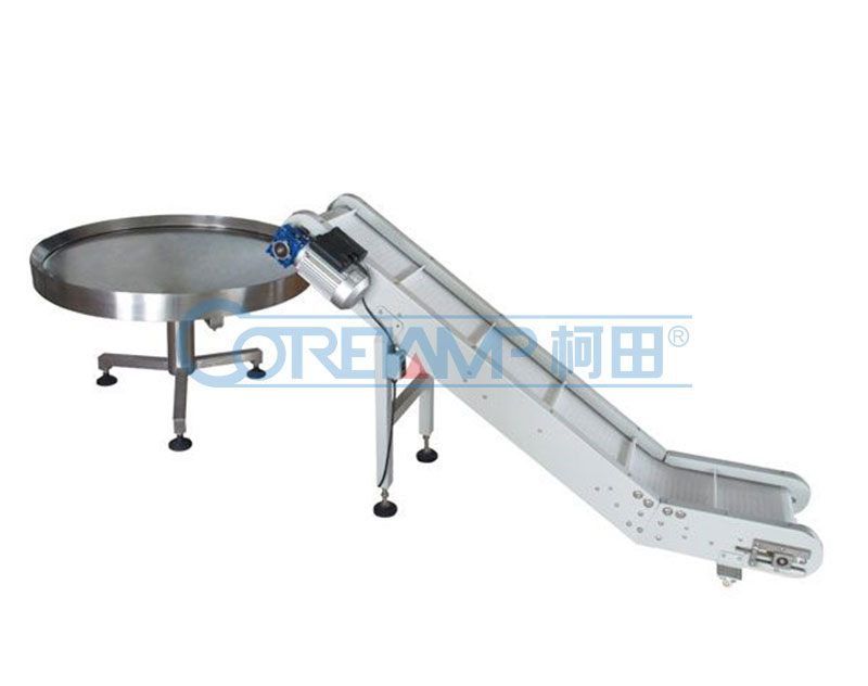 Take away conveyor & rotary collection table