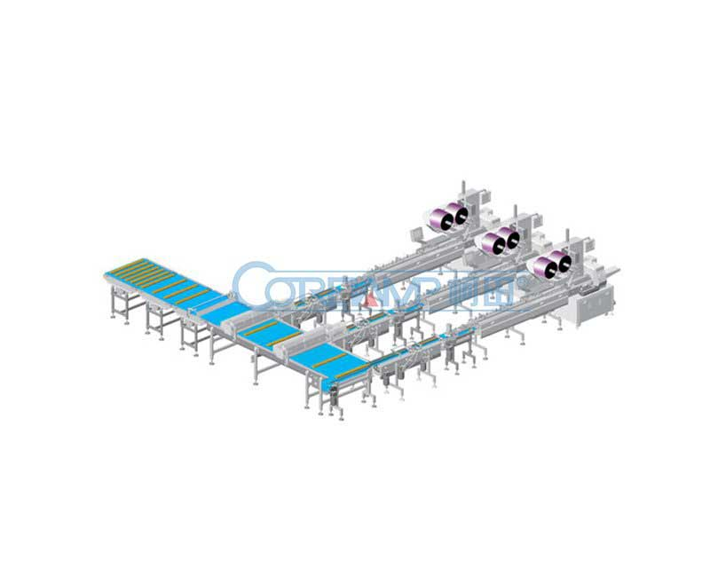 Subsided Bedding One Packing Line With Three Packing Machine