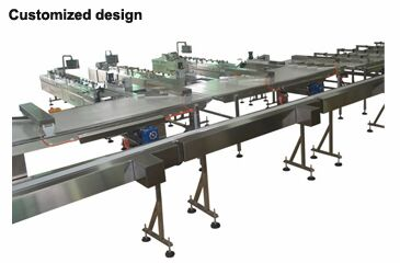 Horizontal flow wrapper packing line
