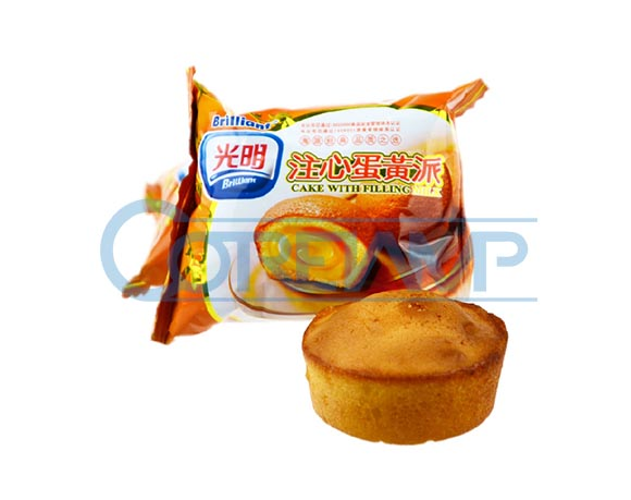 Cup cake packaging with nitrogen filling