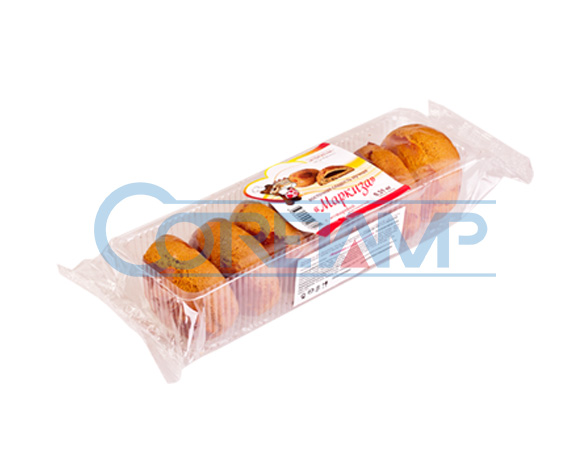 Bread packaging with tray