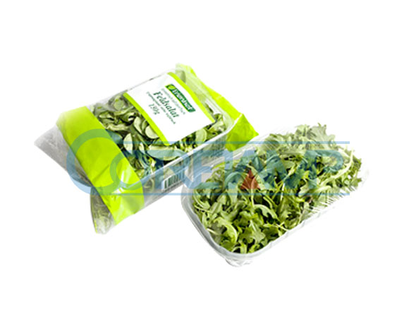 Leaf vegetable packing machine