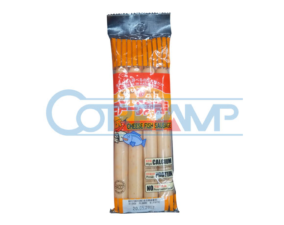 Ham sausage packaging with hang hole