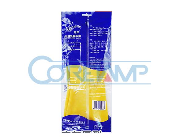 Rubber glove packaging