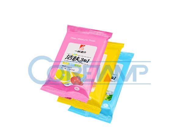 Wet tissue packaging