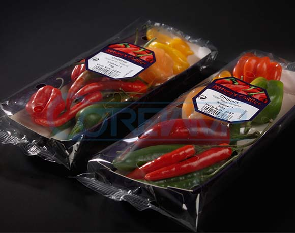 Pepper packaging in tray