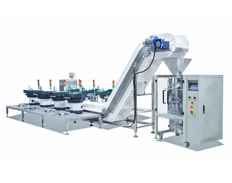Counting Packaging Machine With 8 Vibrate Feeder For Different Material In One Bag