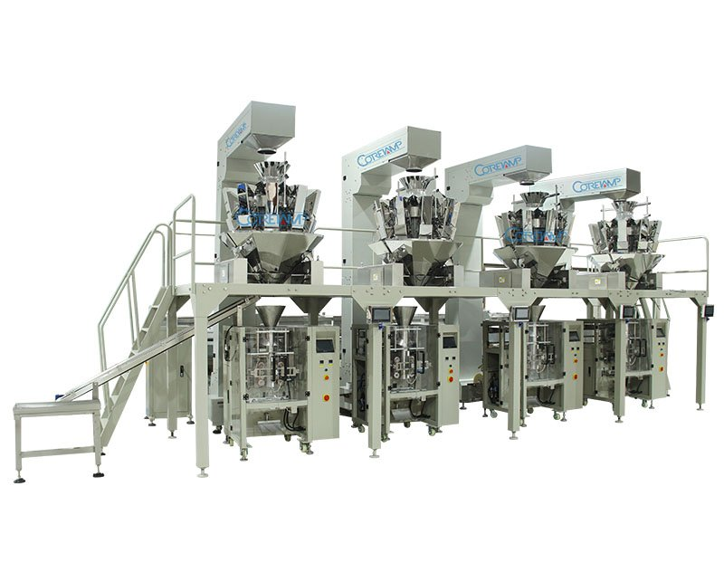 Multi-function Full Automatic Weighing Packing Line Machine