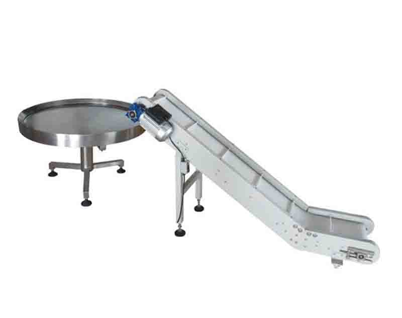 Take away conveyor & rotary collection table