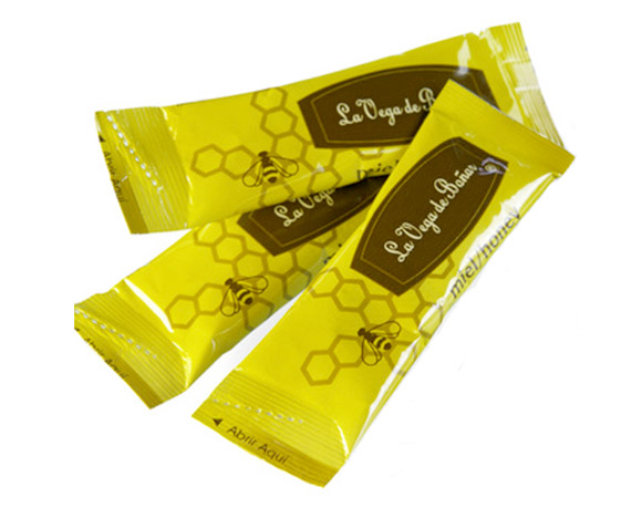 Honey sachet packaging