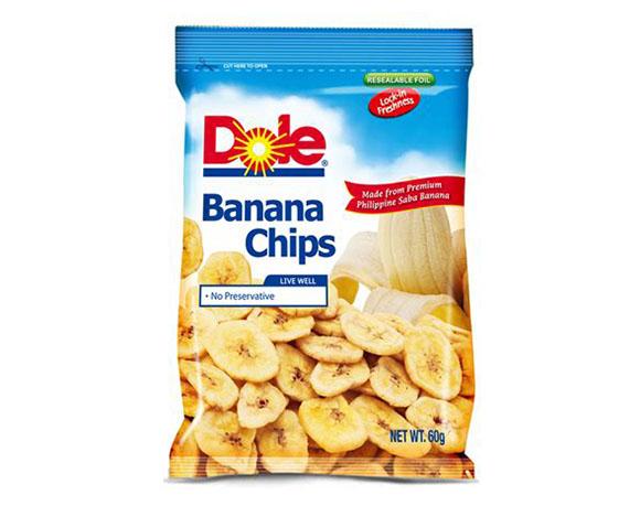 Banana chips packaging