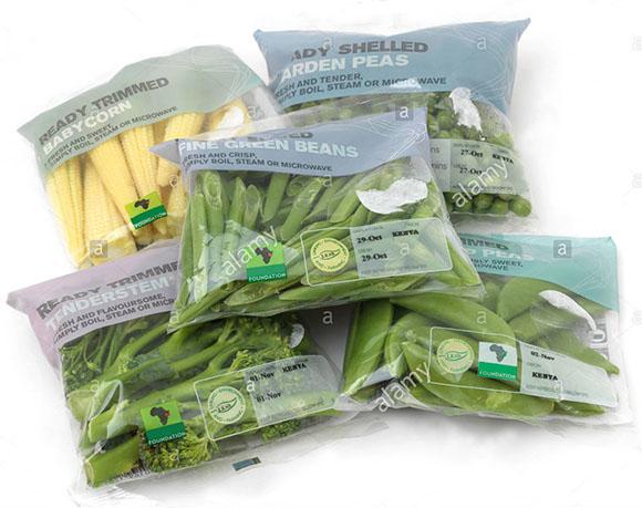 Peas packaging