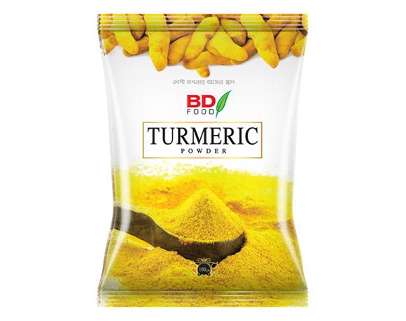Turmeric powder packaging