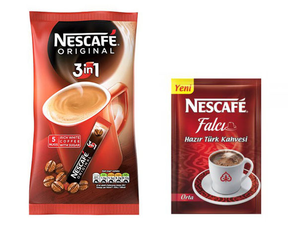 Sachet coffee powder packaging