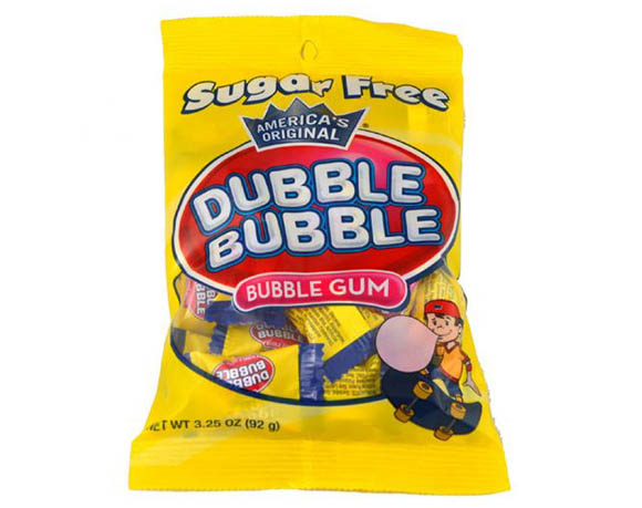 Chewing gum bag packaging