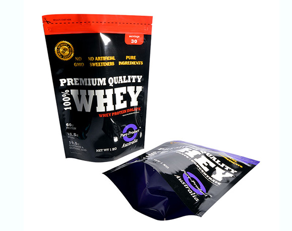 Whey protein powder packaging