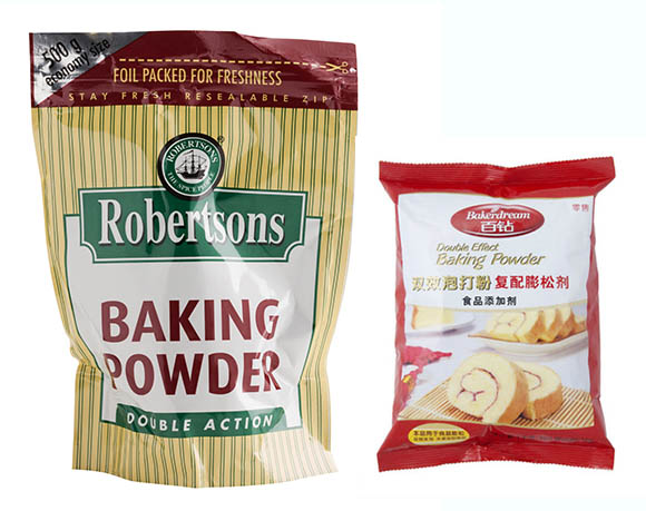 Baking powder packaging
