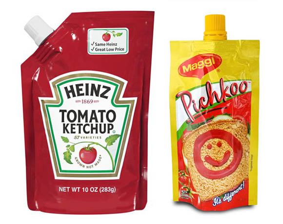 Ketchup pouch packaging