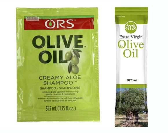 Olive oil sachet packaging