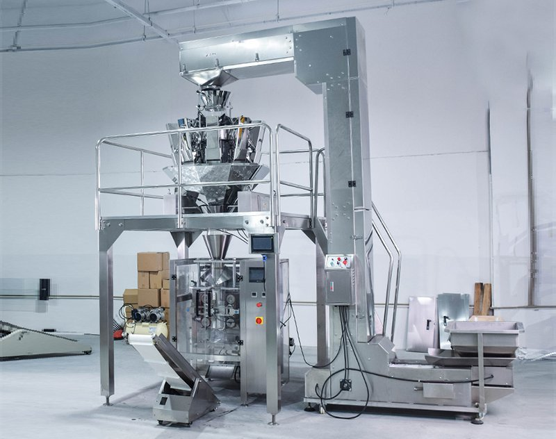 200g~5kg VFFS Automatic Weighing Packing Machine with Multihead Weigher