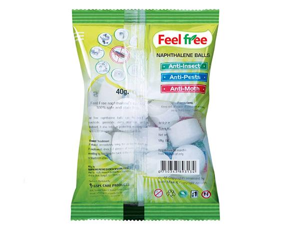 Naphthalene balls packing