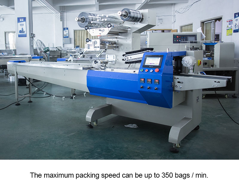 High Speed Servo Packaging Machine ( Double Film Shaft )