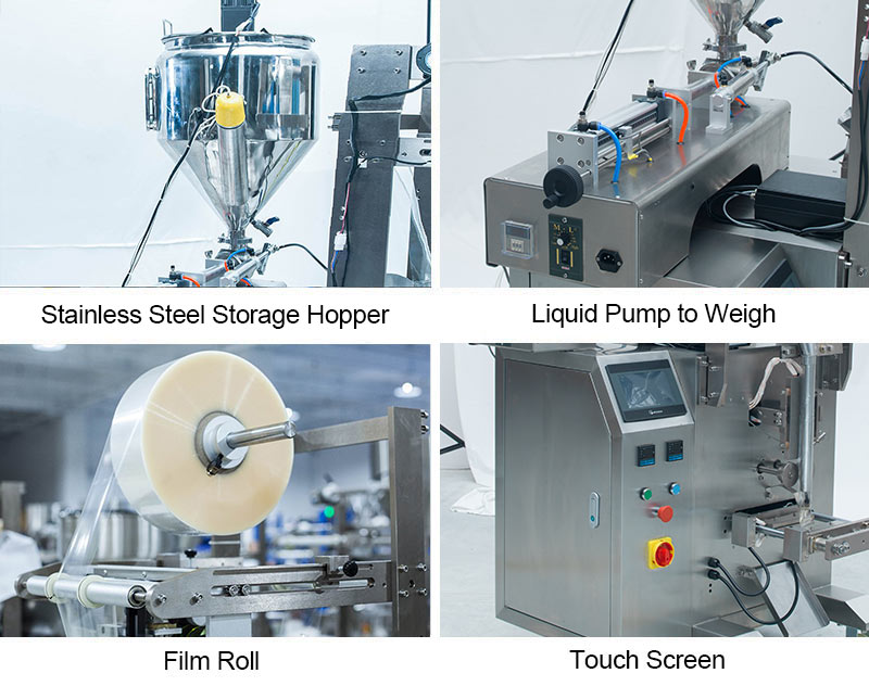 10ml~750ml Liquid Sachet Filling Packing Machine