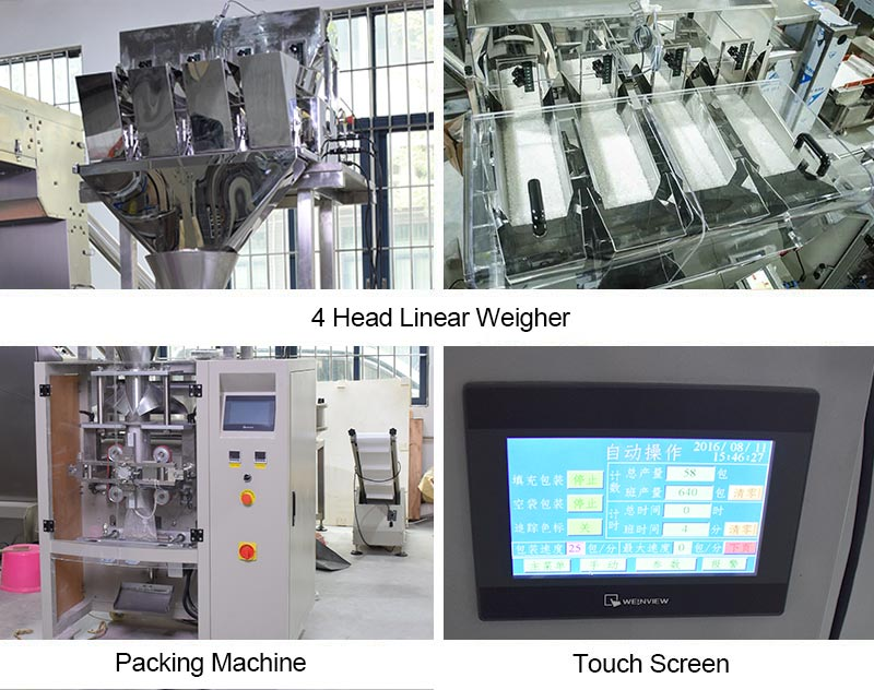 2 or 4 Head Linear Weigher Packing Machine